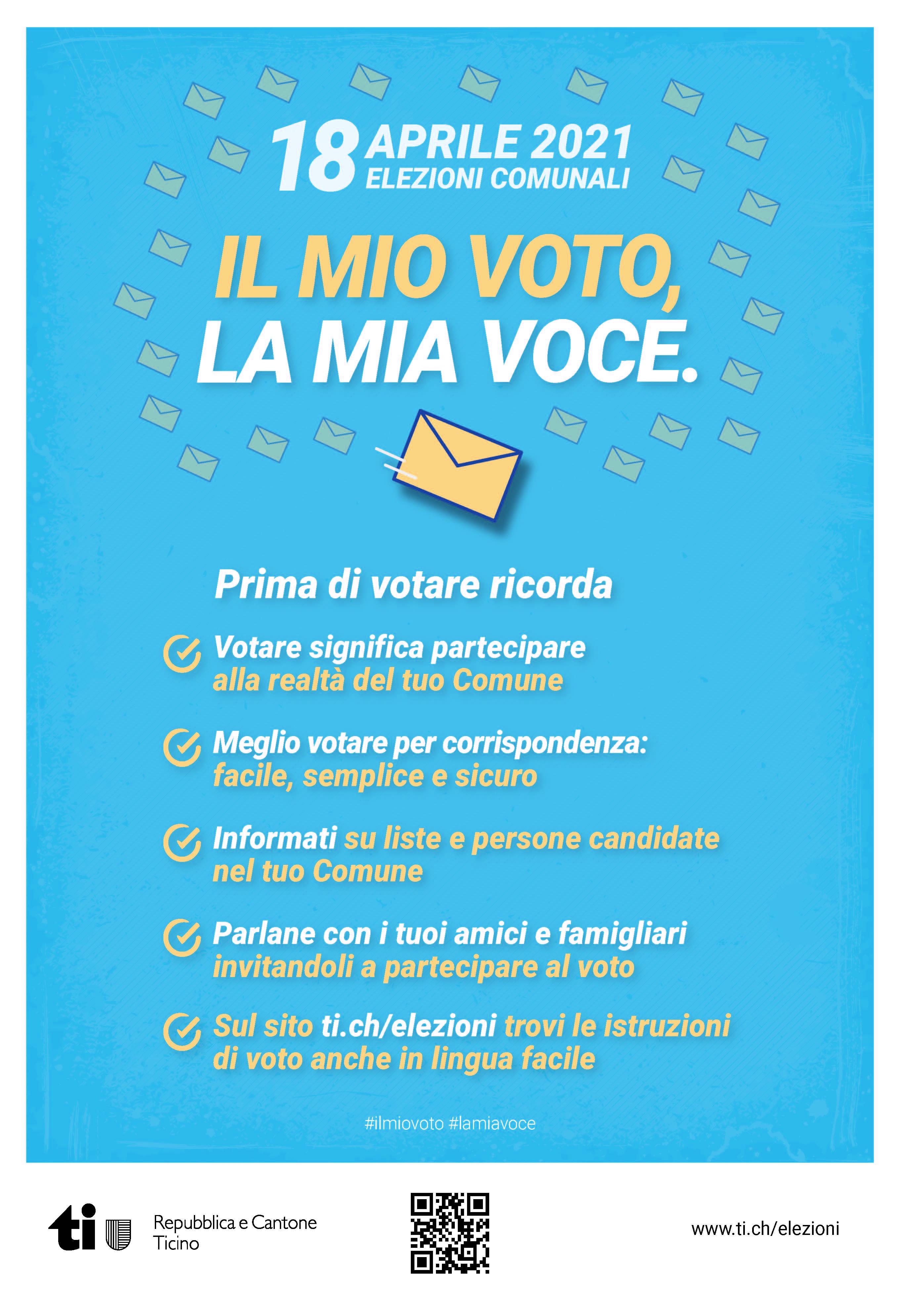 Flyer il mio voto la mia voce